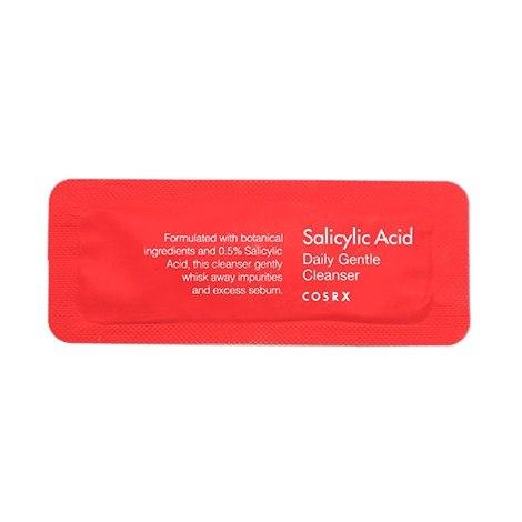 Пенка для умывания с салициловой кислотой пробник COSRX Salicylic Acid Daily Gentle Cleanger sample 1,2мл
