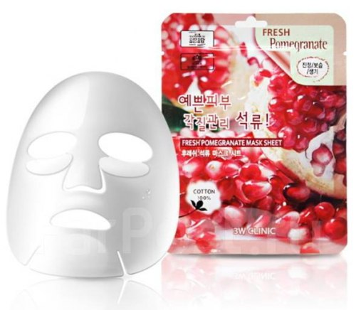 Тканевая маска ЗW CLINIC Fresh Pomegranate Mask Sheet