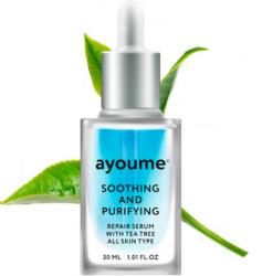 Сыворотка для лица успокаивающая AYOUME Tea Tree Soothing-&-Purifying serum 30мл