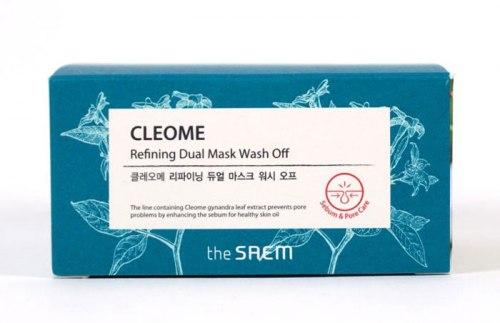 Маска для лица с экстрактом клеомы двухкомпанентная THE SAEM Cleome Refining Dual Mask Wash Off 50мл