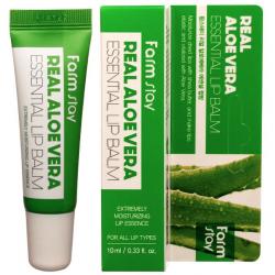Бальзам суперувлажняющий для губ с алое FARMSTAY Real Aloe Vera Essential Lip Balm, 10ml