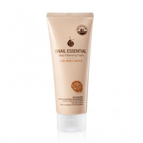Пенка с муцином улитки для глубокого очищения кожи WELCOS Snail Essential Deep Cleansing Foam