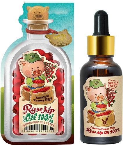 Масло шиповника 100% для лица, тела, волос ELIZAVECCA farmer piggy rose hip oil 100% 30мл
