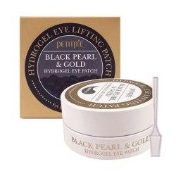 Гидрогелевые патчи для лифтинга кожи вокруг глаз с черным жемчугом и золотом PETITFEE Black Pearl & Gold Hydrogel Eye Patch