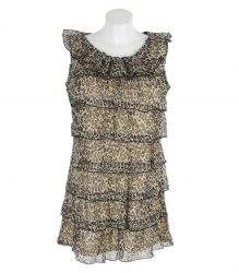 Шифоновое платье без рукавов с леопардовым принтом Mela Loves London 12782