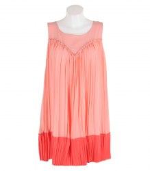 Розовое платье без рукавов с гофрированным низом Yes! Miss 12783