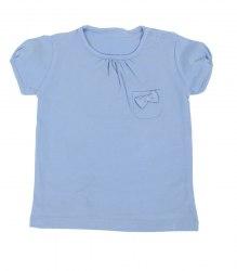 Голубая футболка с бантиком Blukids 12911