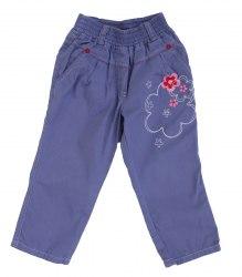 Детские штаники с вышитыми цветами Бемби 12973