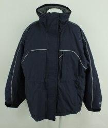 Синяя утепленная куртка с рукавом реглан Horse Energy 2959