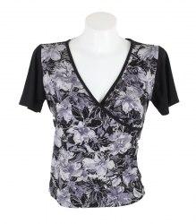 Черная футболка с запахом Kaige Nina 13167