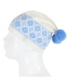 Белая шапочка с голубым орнаментом Glissade 13233