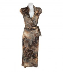 Коричневое трикотажное платье Steilmann 13262