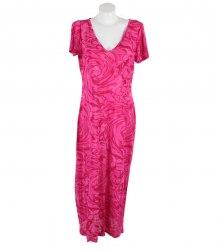 Длинное розовое платье без рукавов Yoors 13263