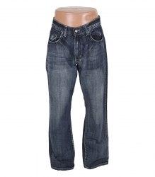 Синие джинсы с вышитыми карманами Flypaper 13327