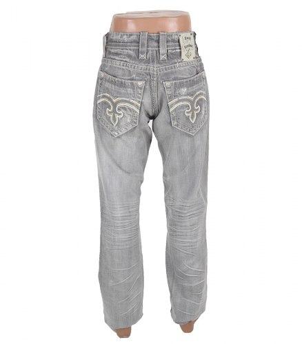 Светло-серые стильные джинсы Rock Revival 13328