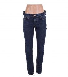 Темно-синие облегающие джинсы на пуговицах H&M 13329