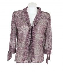 Шифоновая блуза с узорным принтом Oshun 13503
