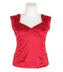 Красная атласная блуза-безрукавка Next 13505