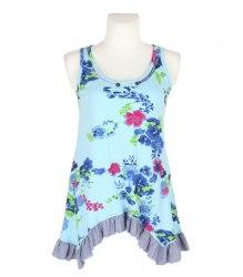 Голубое платье-майка с цветочным принтом Joe Browns 13528