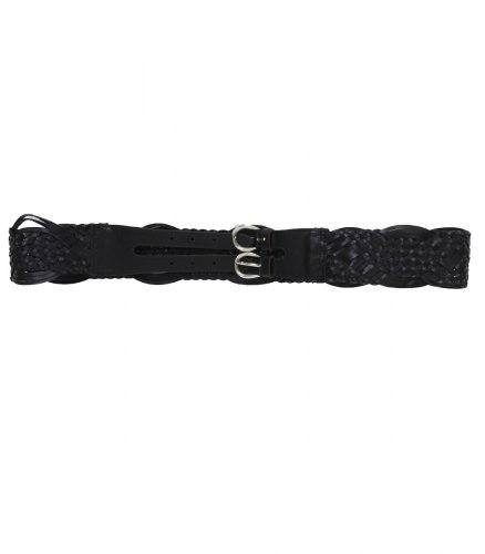 Черный ремень-плетенка с 2-мя пряжками Next 13460