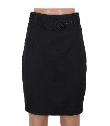 Черная юбка с пояском Benetton 13483