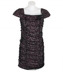 Черный сарафан с цветочным принтом Mixray 13592
