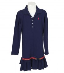 Синее трикотажное платье на девочку Ralph Lauren 13617