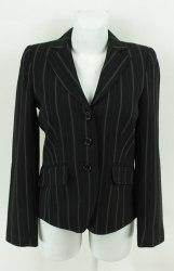 Черный пиджак в бело-коричневую полоску Red Hot 3084