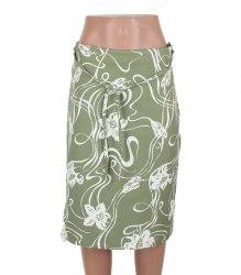 Оливковая юбка с цветами Tom Tailor 13718