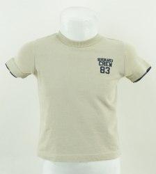 Бежевая футболка с логотипом 83 Mothercare 3114