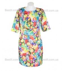 Пестрое платье с цветочным принтом и карманами Appleline 13960