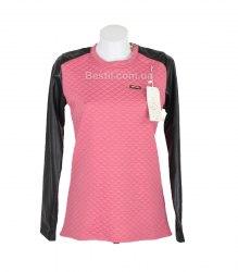 Розовая трикотажная кофта с контрастными рукавами Arjen 13992