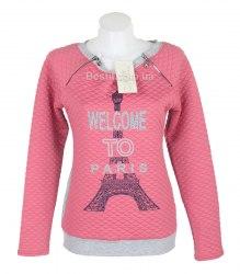Розовая кофта Paris с замочками Arjen 13993