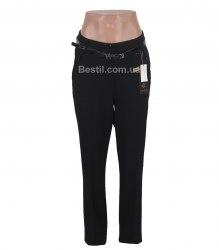 Черные зауженные брюки с поясом Das 14062
