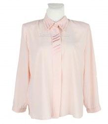 Нежно-розовая блуза с длинным рукавом Amanda 14140