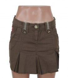 Короткая коричневая юбка Sensi 14161