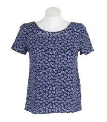Сине-бежевая блуза с треугольным вырезом на спине Pimkie 14287