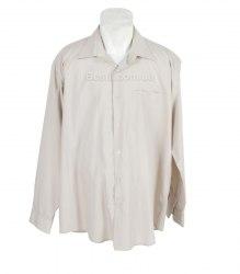 Бежевая рубашка с длинным рукавом Pan Filo 14314