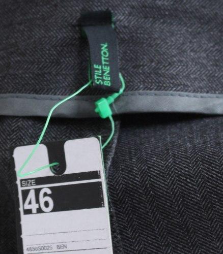Серая юбка прямого кроя Benetton 14530