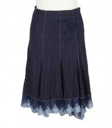 Хлопковая юбка на подкладке с кружевным низом Bessamo 14549
