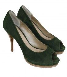 Зеленые замшевые туфли на платформе Antonio Biaggi 14551