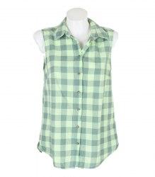 Зеленая блуза-безрукавка в клетку H&M 14619