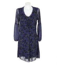 Черно-синее трикотажное платье Sandwich 14691