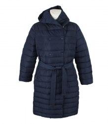 Синее стеганое пальто с капюшоном Red Ocean 14801