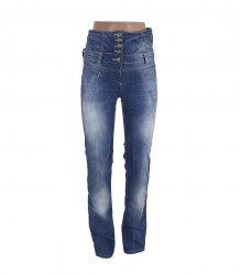 Синие джинсы на высоком поясе Revolt Jeans 15121