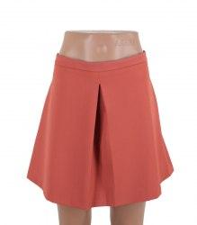 Коричневая юбка со встречной складкой Pimkie 15152