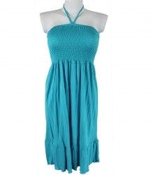 Ярко-голубой сарафан с завязкой на шее In Extenso 3363