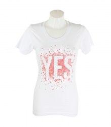 Белая удлиненная футболка с коротким рукавом Marlboro 15470