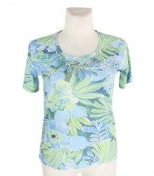 Голубая футболка с крупными цветами Afibel 15471