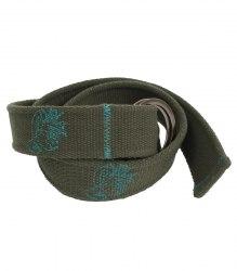Текстильный ремень с вышивкой и пряжкой-кольцом None 15504